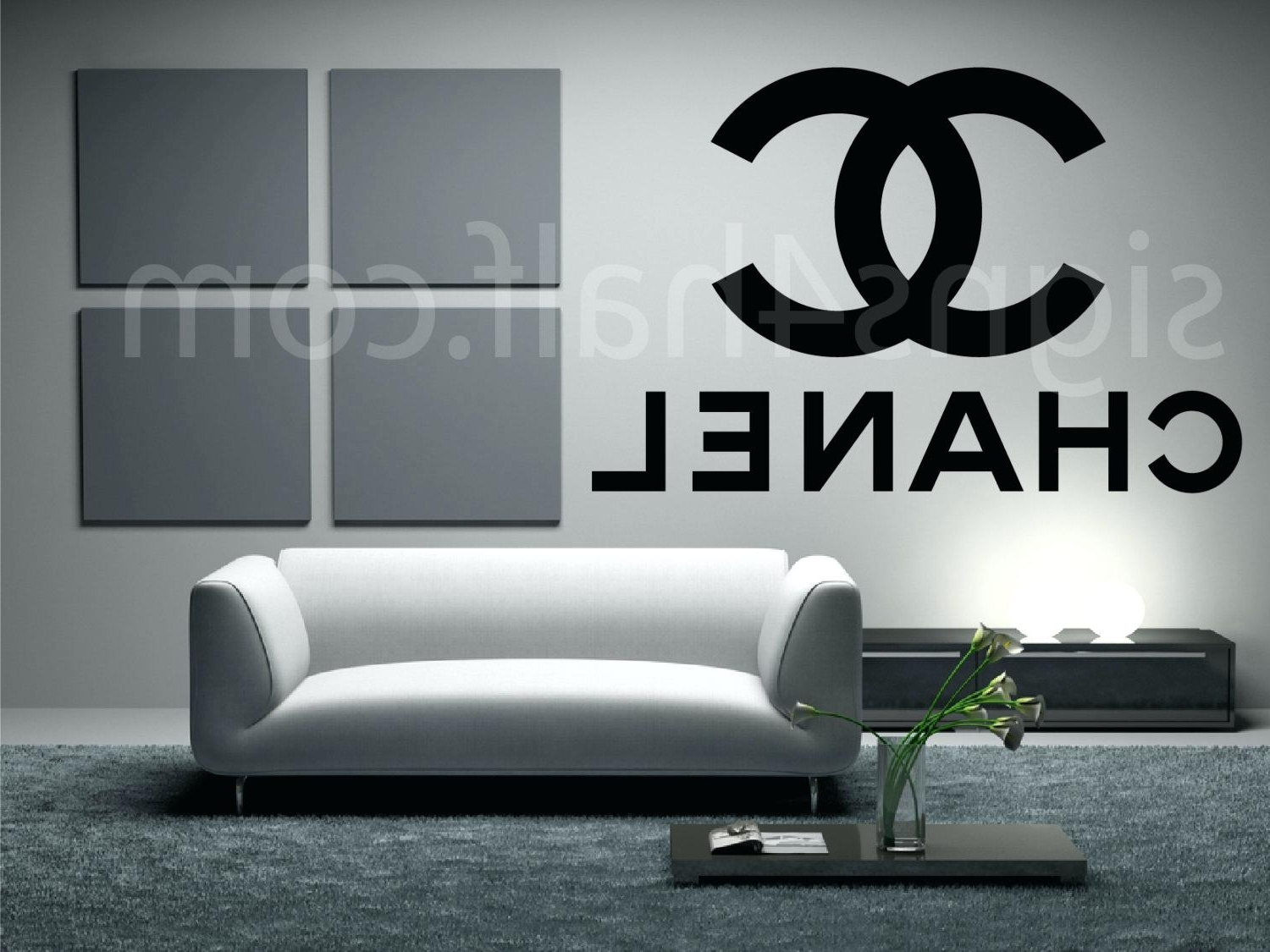 Chanel Wall Decor In Latest Coco Chanel Wall Decal – Gutesleben (View 15 of 15)