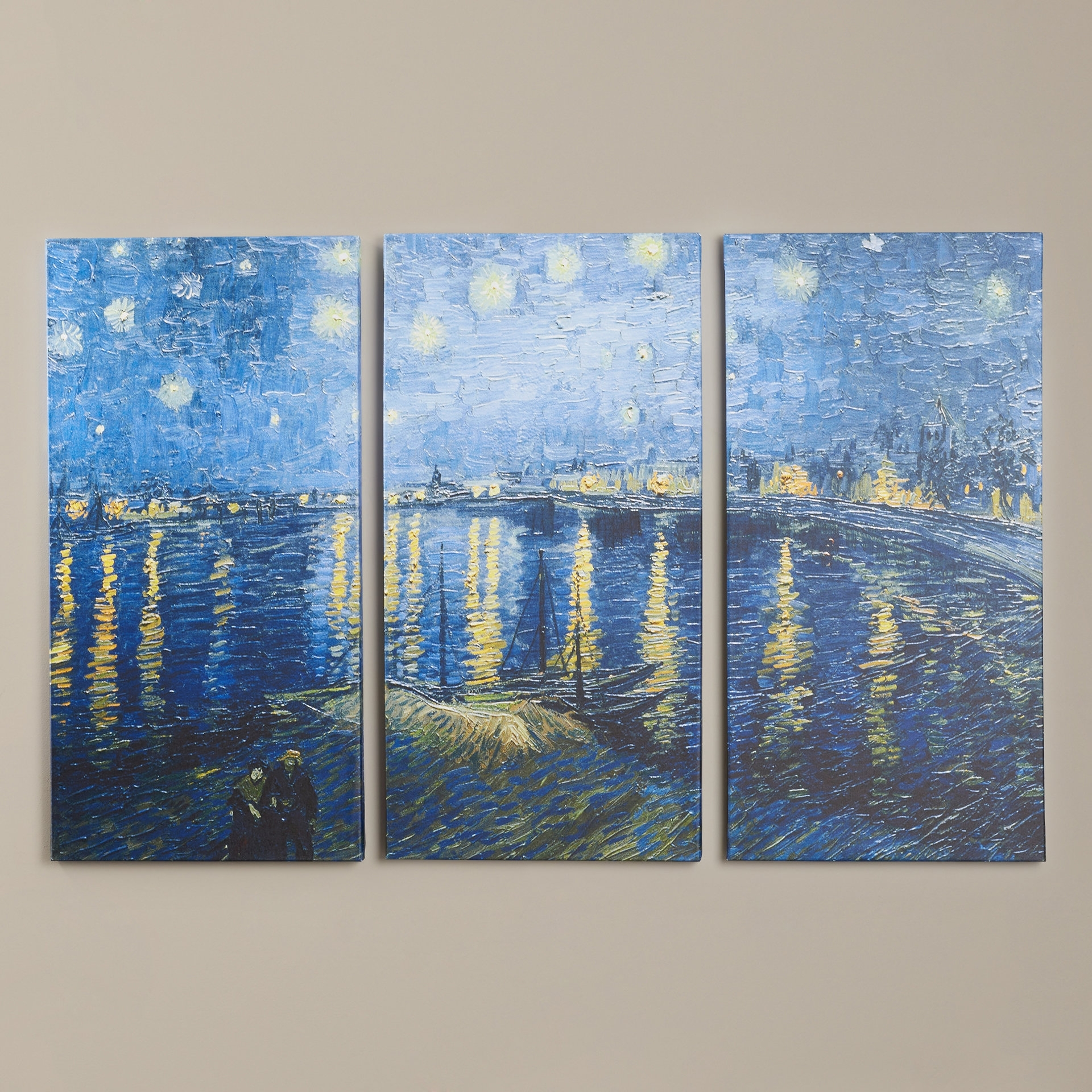 Charlton Home 'starry Night Over The Rhone'vincent Van Gogh 3 Regarding Most Recent Vincent Van Gogh Multi Piece Wall Art (View 3 of 15)