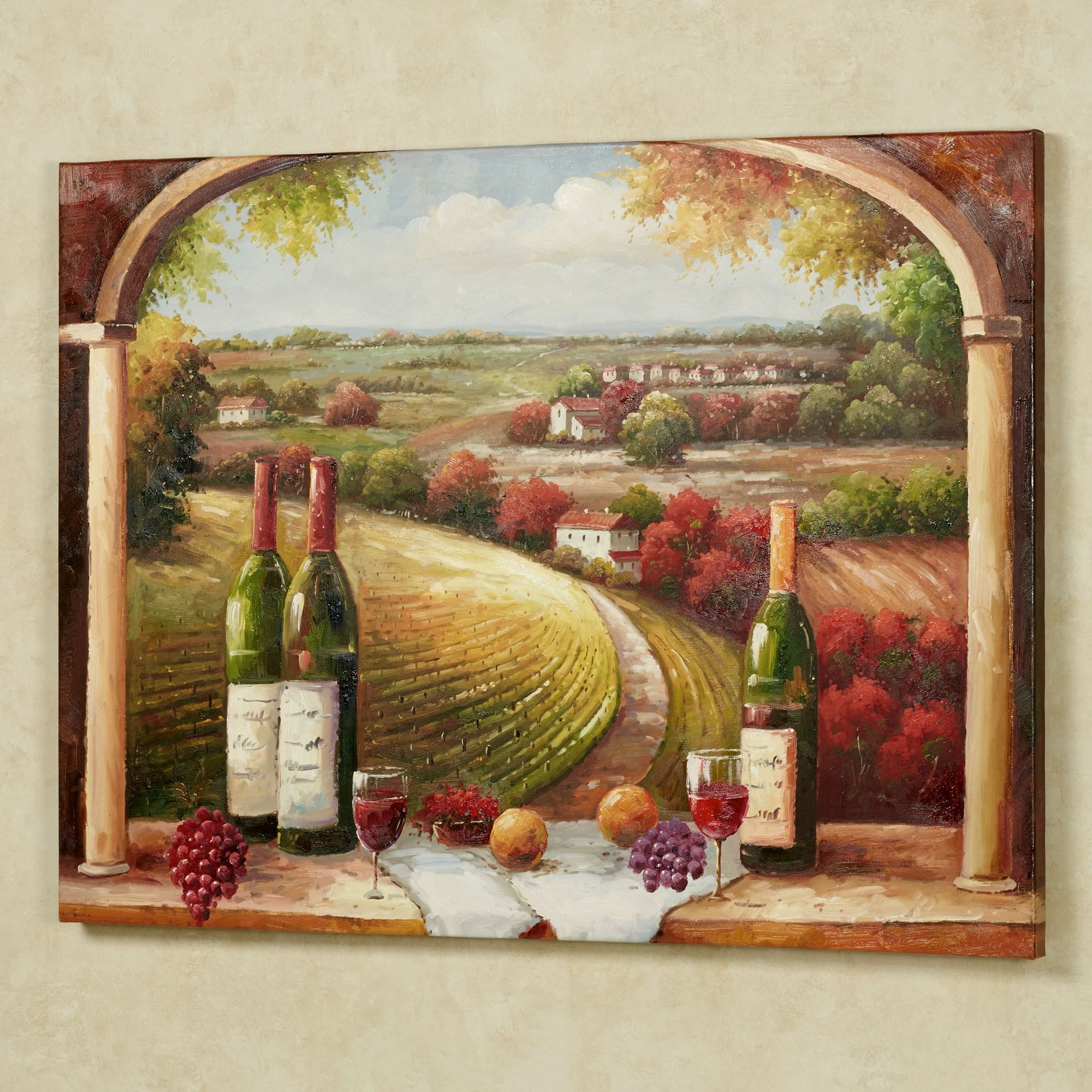 Cheap Italian Wall Art Inside Well Liked Tuscan Charm Canvas Wall Art (View 6 of 15)