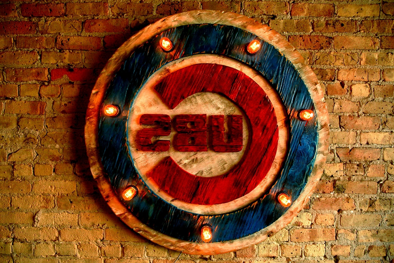 Chicago Cubs Wall Art Within Well Liked Chicago Cubs Handmade Distressed Edison Light Bulb Wood Sign (View 2 of 15)