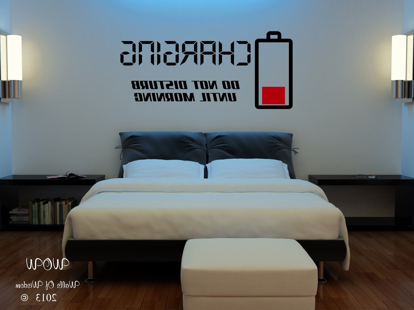 Children Teenager Adult Bedroom Wall Stickers Wall Art Charging Do In Recent Wall Art For Teenagers (View 11 of 15)