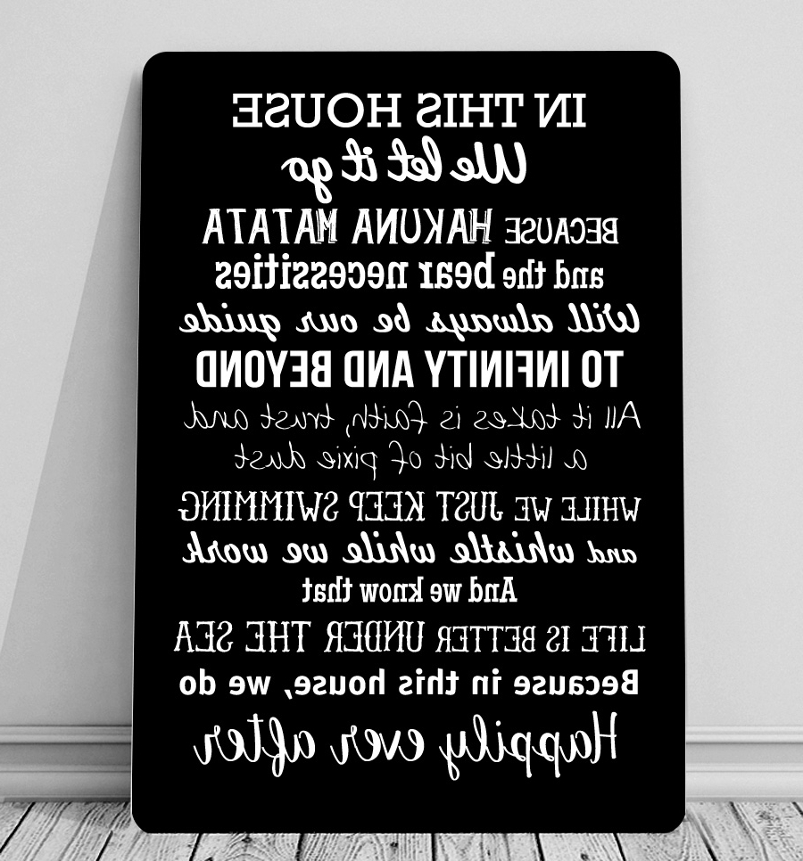 Childrens Canvas For 2018 Metal Wall Art Quotes (View 2 of 15)