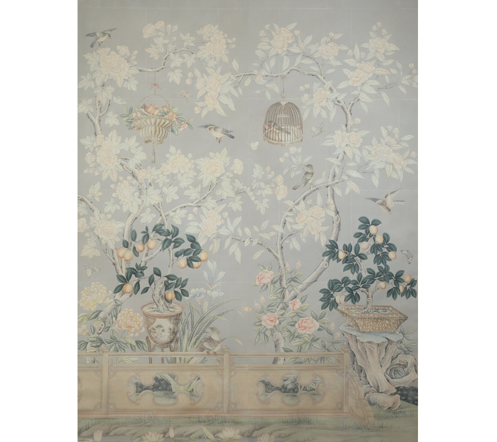 Chinoiserie Wall Art For Famous Chinoiserie, Sconces, Marble Floors (View 2 of 15)