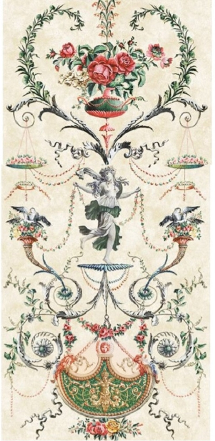 Chinoiserie Wall Art Pertaining To Best And Newest French Arabesque Panels  Vintage Brocante Chinoiserie Wallpaper (View 5 of 15)