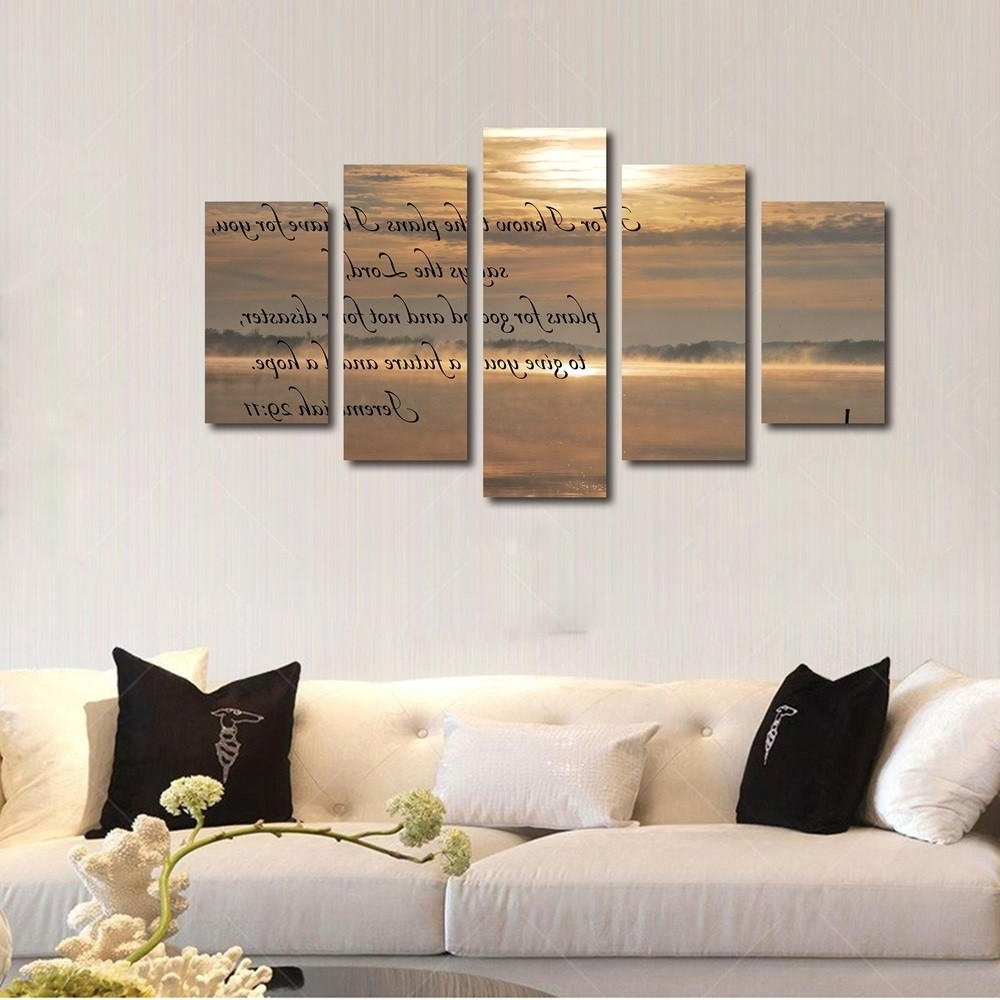 Christian Wall Art Canvas For Best And Newest Jeremiah 29:11 #4 Bible Verse Canvas Wall Art (View 3 of 15)