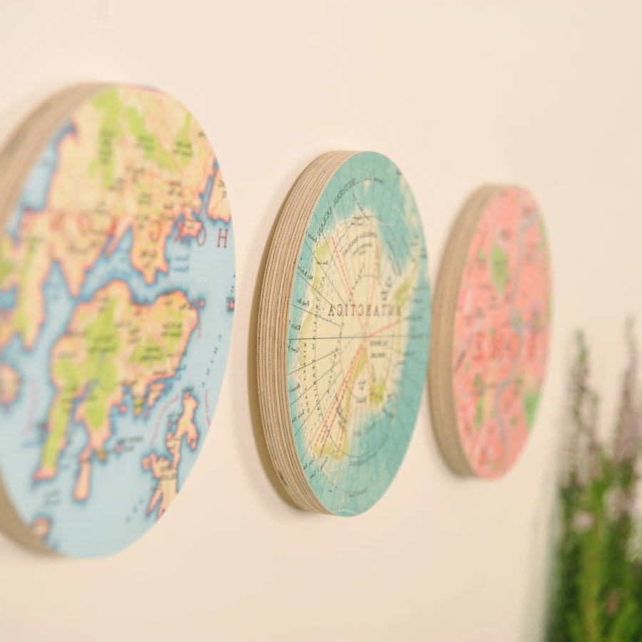 Circles 3d Wall Art With Most Recently Released Personalised Map Location 3d Circle Wall Artbombus (View 6 of 15)
