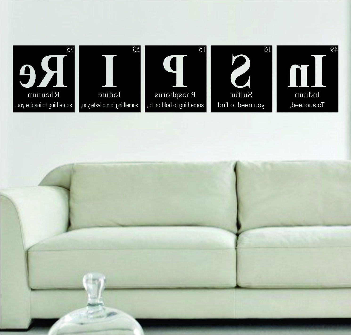 Classroom Vinyl Wall Art Throughout Favorite Inspire Periodic Table Science Design Decal Sticker Wall Vinyl (View 10 of 15)