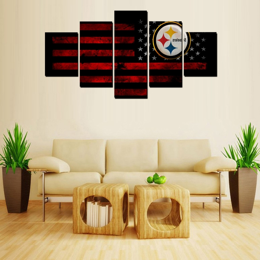 Classy 70+ Steelers Home Decor Design Inspiration Of Popular Within Fashionable Steelers Wall Art (View 2 of 15)