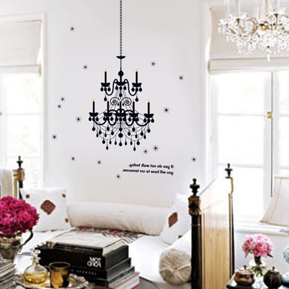 Classy Wall Art With Most Popular Grand Chandelier Light Fancy Stars Home Decals Wall Stickers Vinyl (View 3 of 15)