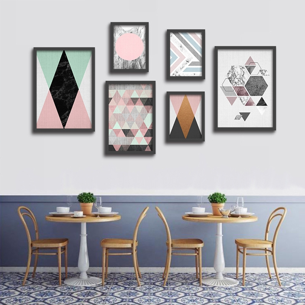 Classy Wall Art Within Most Recent Nordic Style Modern Minimalist Abstract Geometric Decor Wall Art (View 8 of 15)