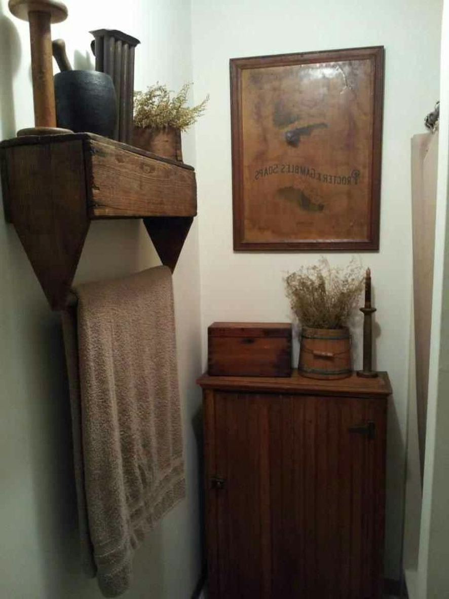 Clever Turning The Tool Box Upside Bathroom , Country Primitive Within Preferred Primitive Wall Art (View 10 of 15)