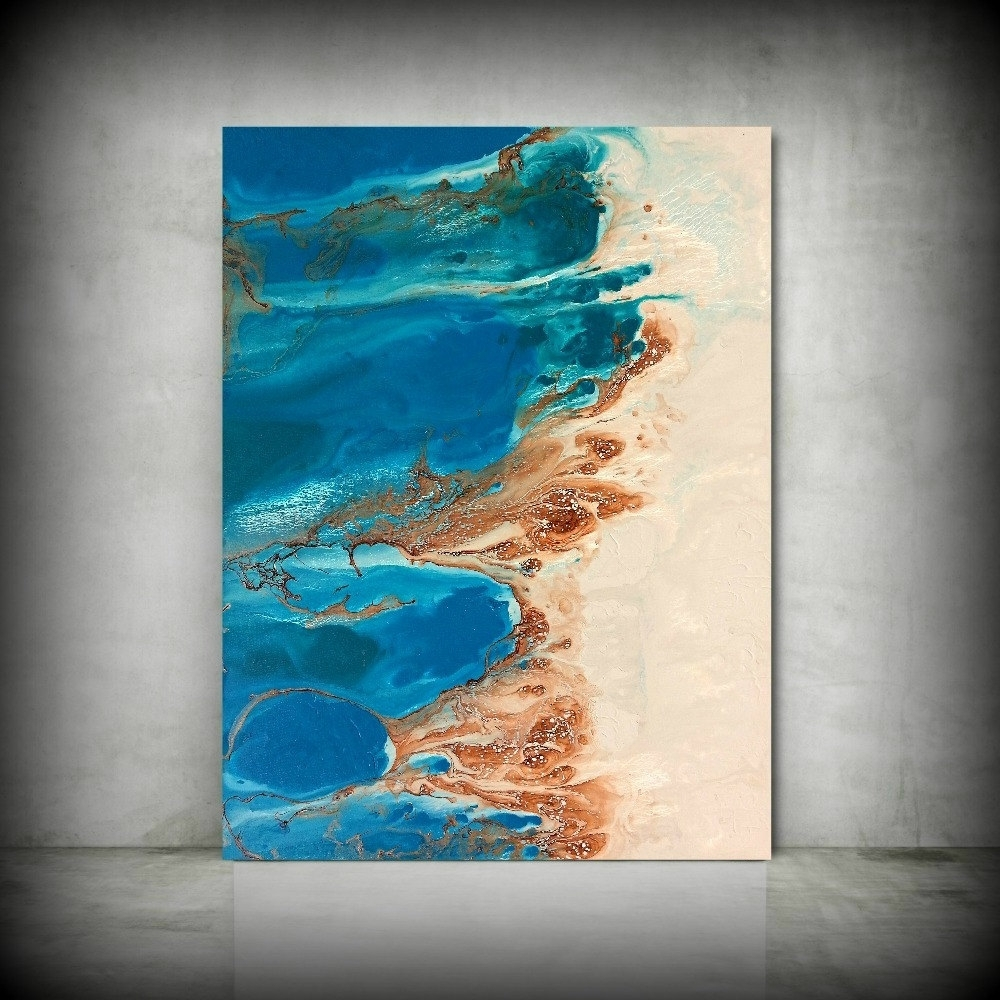 Coastal Wall Art Canvas In 2017 Beach Painting 30 X 40 Abstract Painting Acrylic Painting Abstract (View 1 of 15)