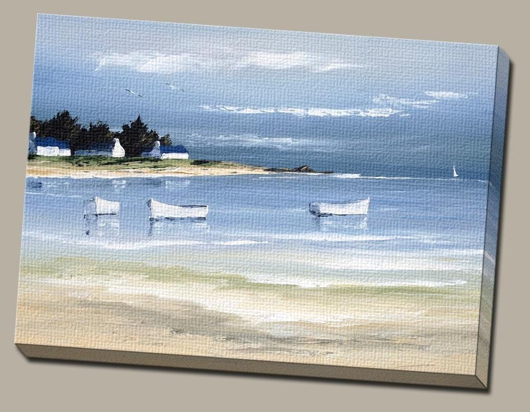 Coastal Wall Art Throughout Popular Amazon: Portfolio Canvas Decor Large Printed Canvas Wall Art (View 5 of 15)