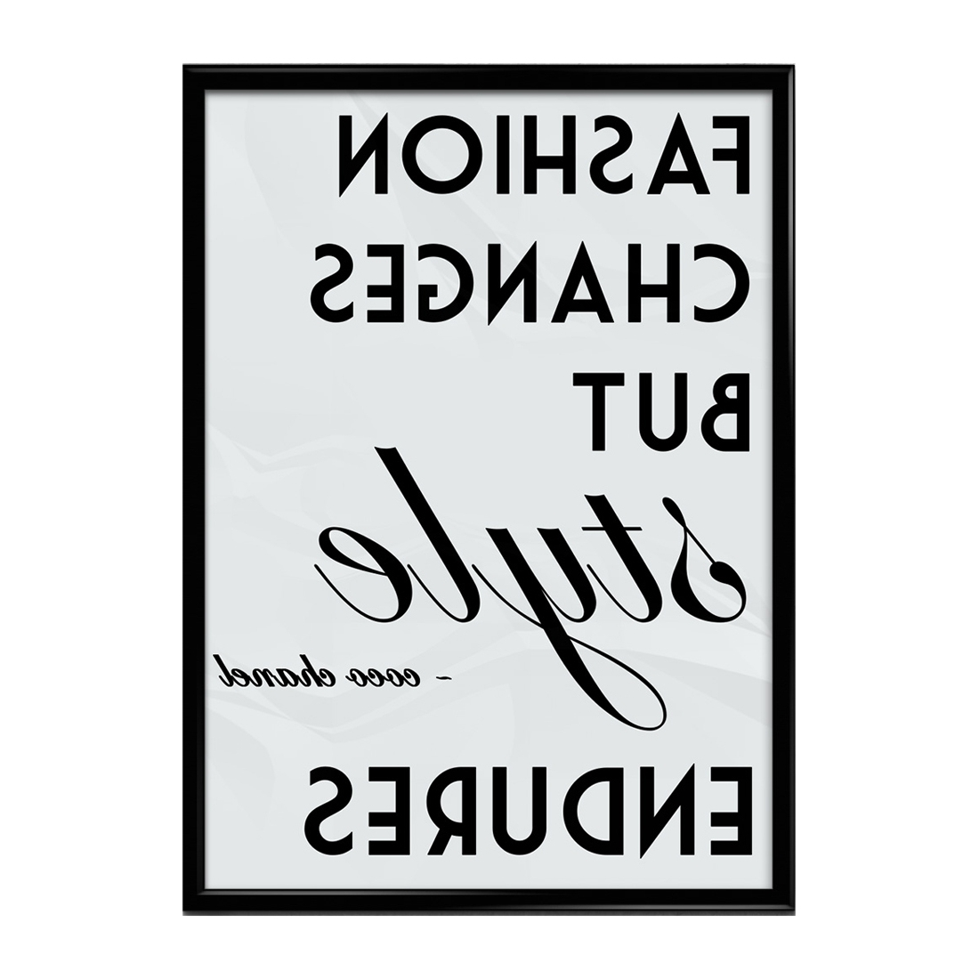Coco Chanel For 2017 Coco Chanel Quotes Framed Wall Art (Gallery 12 of 15)