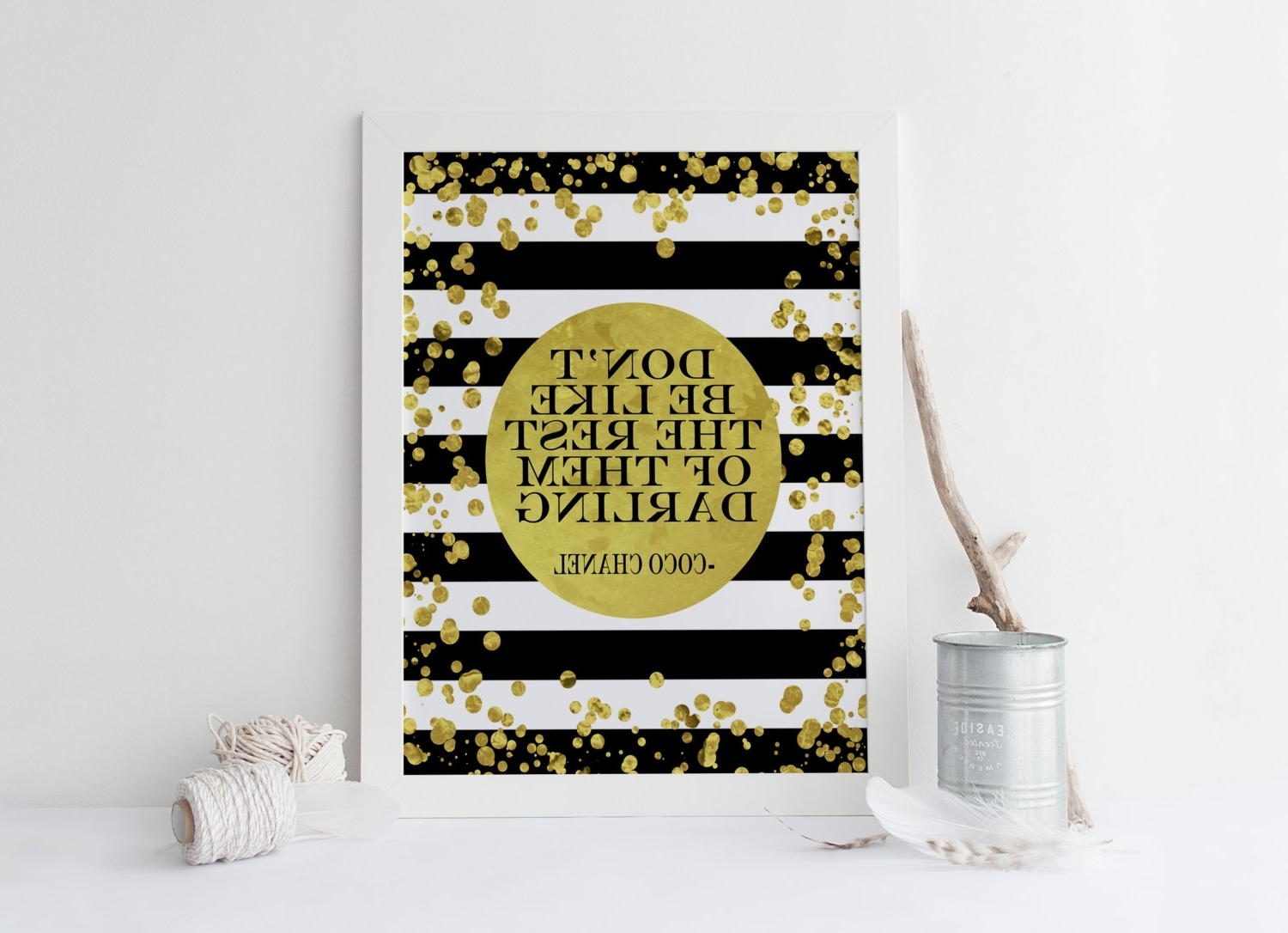 Coco Chanel Quote,don't Be Like The Rest Of Them Darling, Chanel Throughout 2018 Coco Chanel Quotes Framed Wall Art (View 14 of 15)