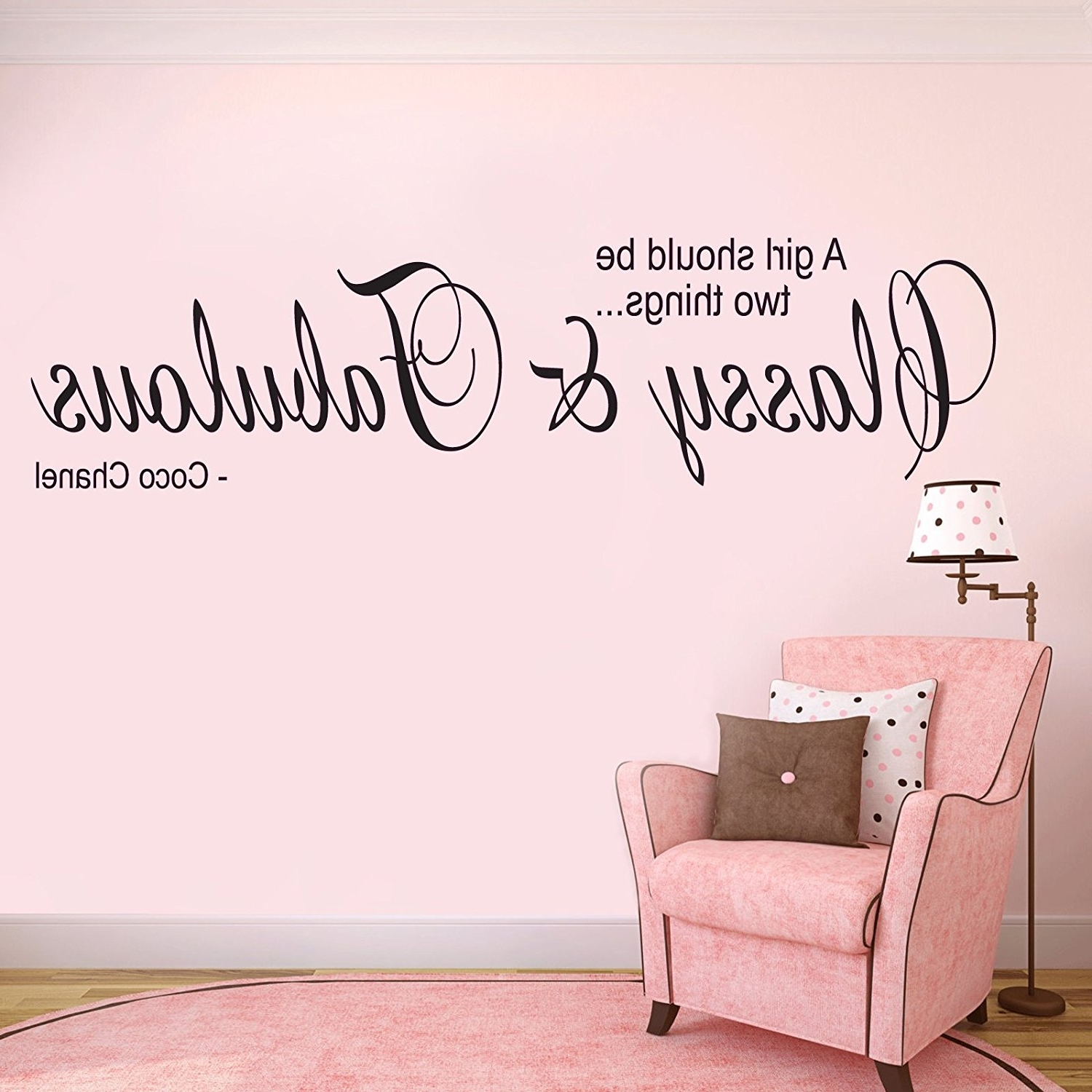 Coco Chanel Wall Decals For Most Popular V&c Designs Ltd (Tm) Coco Chanel – Classy And Fabulous Quote (View 4 of 15)