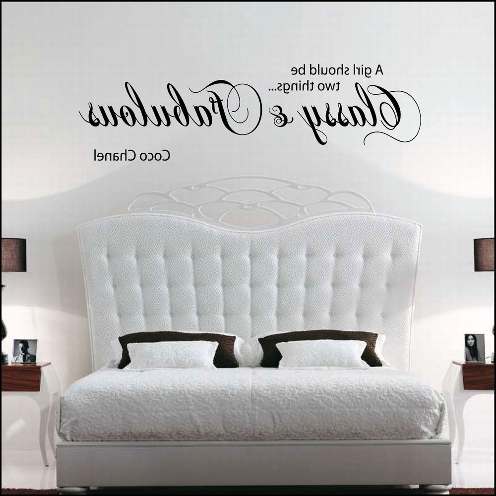 Coco Chanel Wall Decals Pertaining To Most Popular Wall Decal Sticker Quote Vinyl Art Lettering Decoration Believe (View 8 of 15)