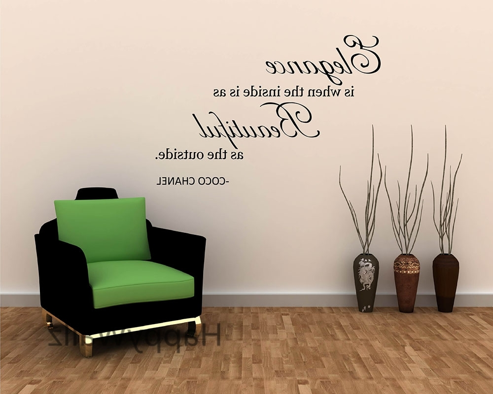 Coco Chanel Wall Decals Pertaining To Widely Used Instagram Coco Chanel Inspirational Saying ~ Inspiring Quotes And (View 9 of 15)