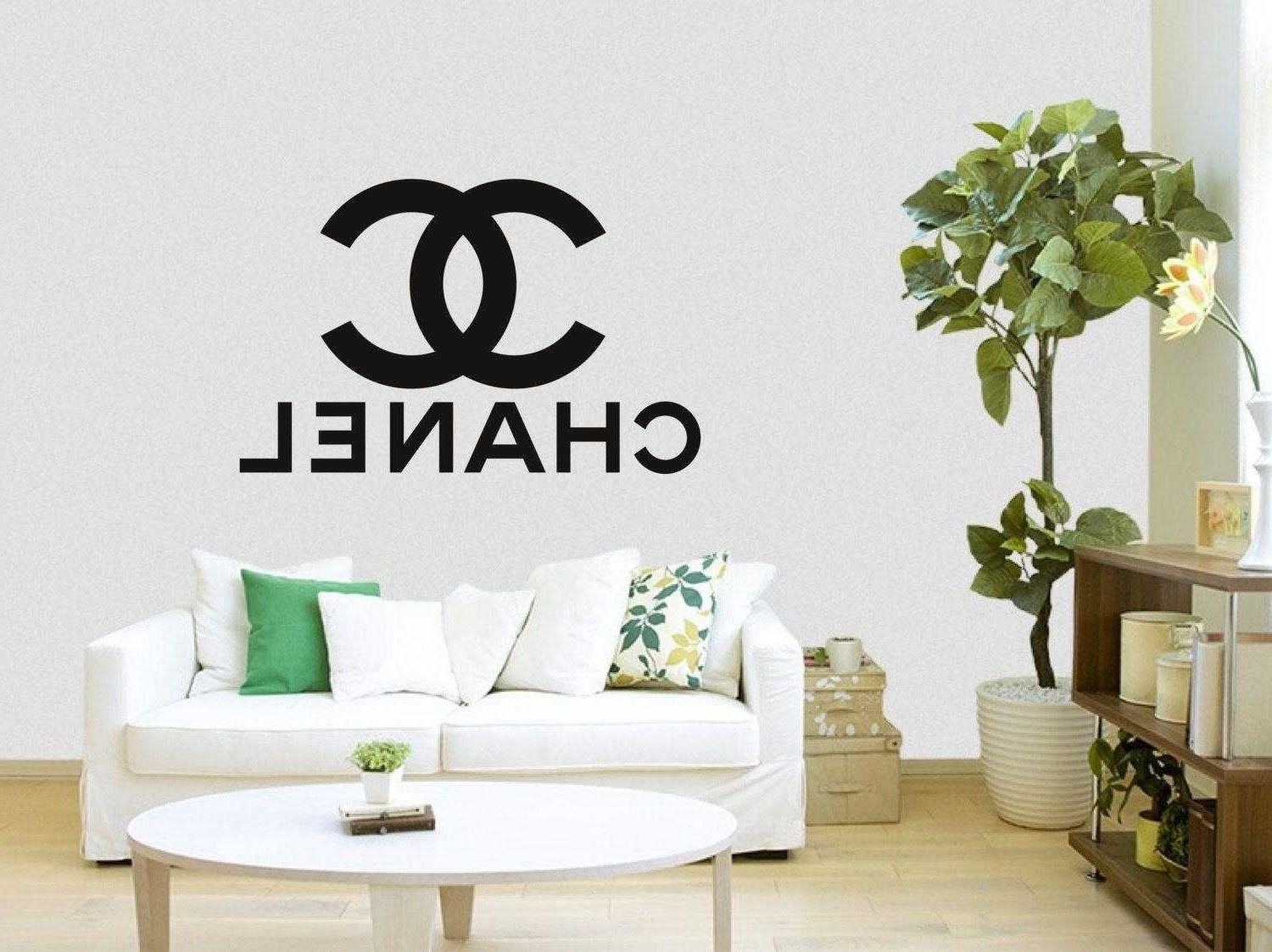 Coco Chanel Wall Stickers (View 11 of 15)