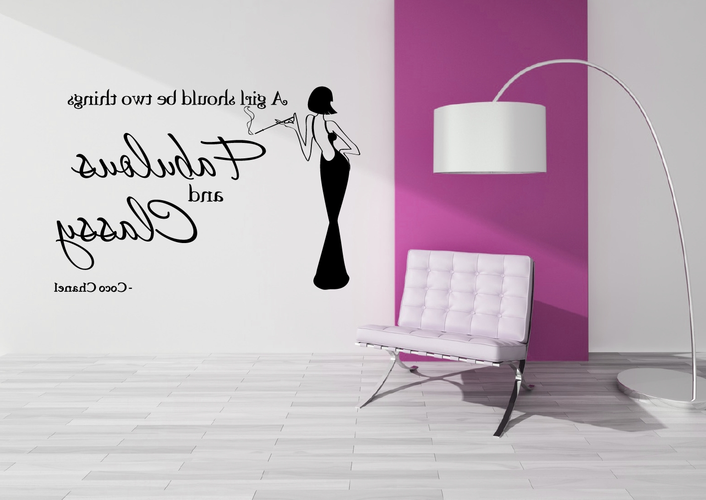 Coco Chanel Wall Stickers In 2017 Coco Chanel – Fab & Classy – Grafix Wall Art (View 14 of 15)