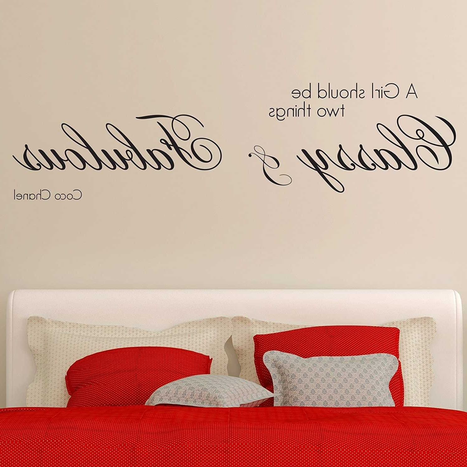 Coco Chanel Wall Stickers Regarding Well Liked Coco Chanel Wall Decal (View 7 of 15)