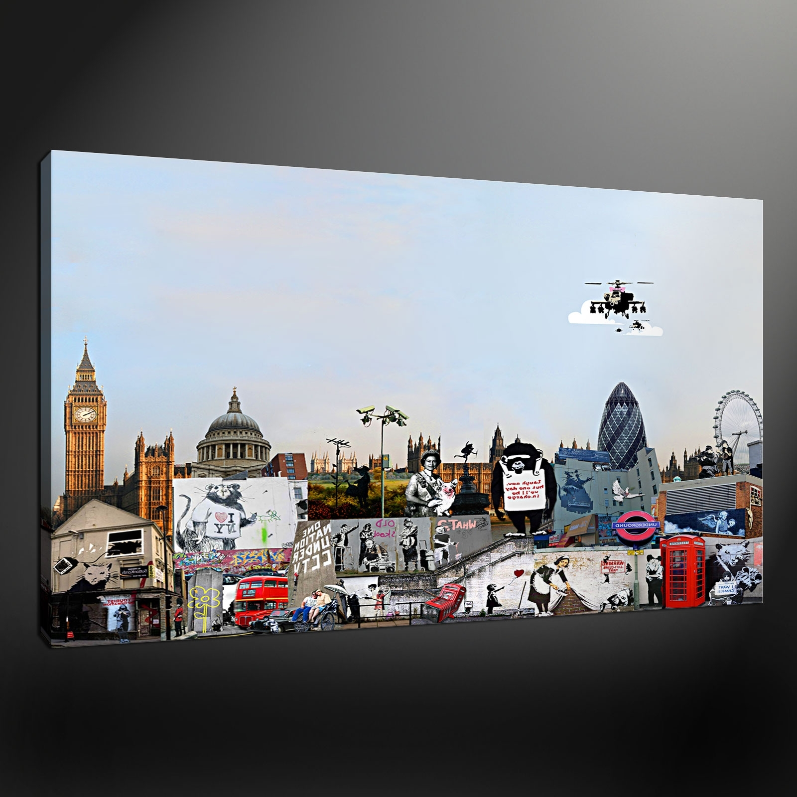 Collection Canvas Print Picture Wall Art Throughout Most Up To Date Banksy Wall Art Canvas (View 9 of 15)