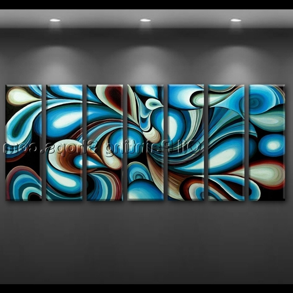 Colorful Abstract Wall Art In Popular Large Wall Art Colorful Abstract Oil Painting On Canvas Modern (View 15 of 15)