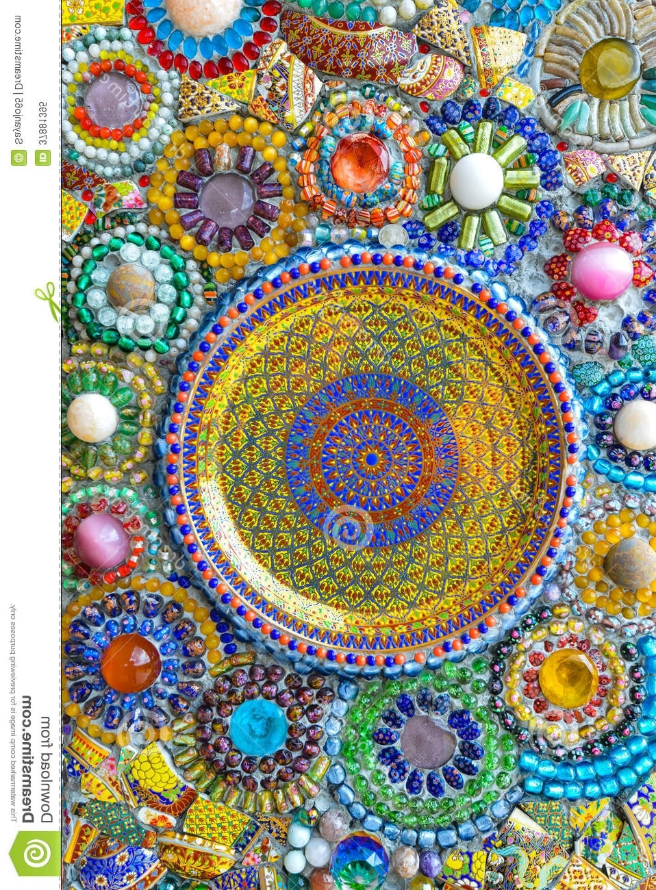Colorful Mosaic Art And Abstract Wall Background. Stock Image With Recent Abstract Mosaic Art On Wall (Gallery 9 of 15)