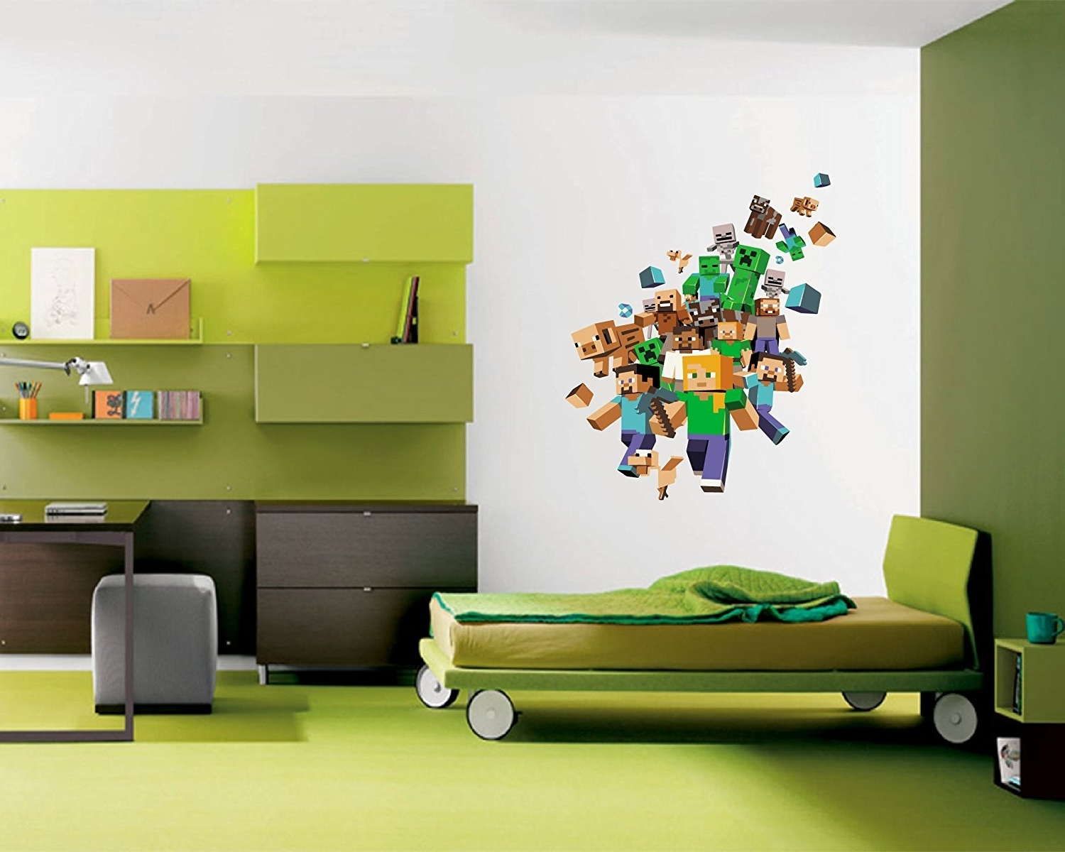 Colors : Minecraft Wall Decals Name In Conjunction With Minecraft In Newest Minecraft Wall Art Uk (View 2 of 15)