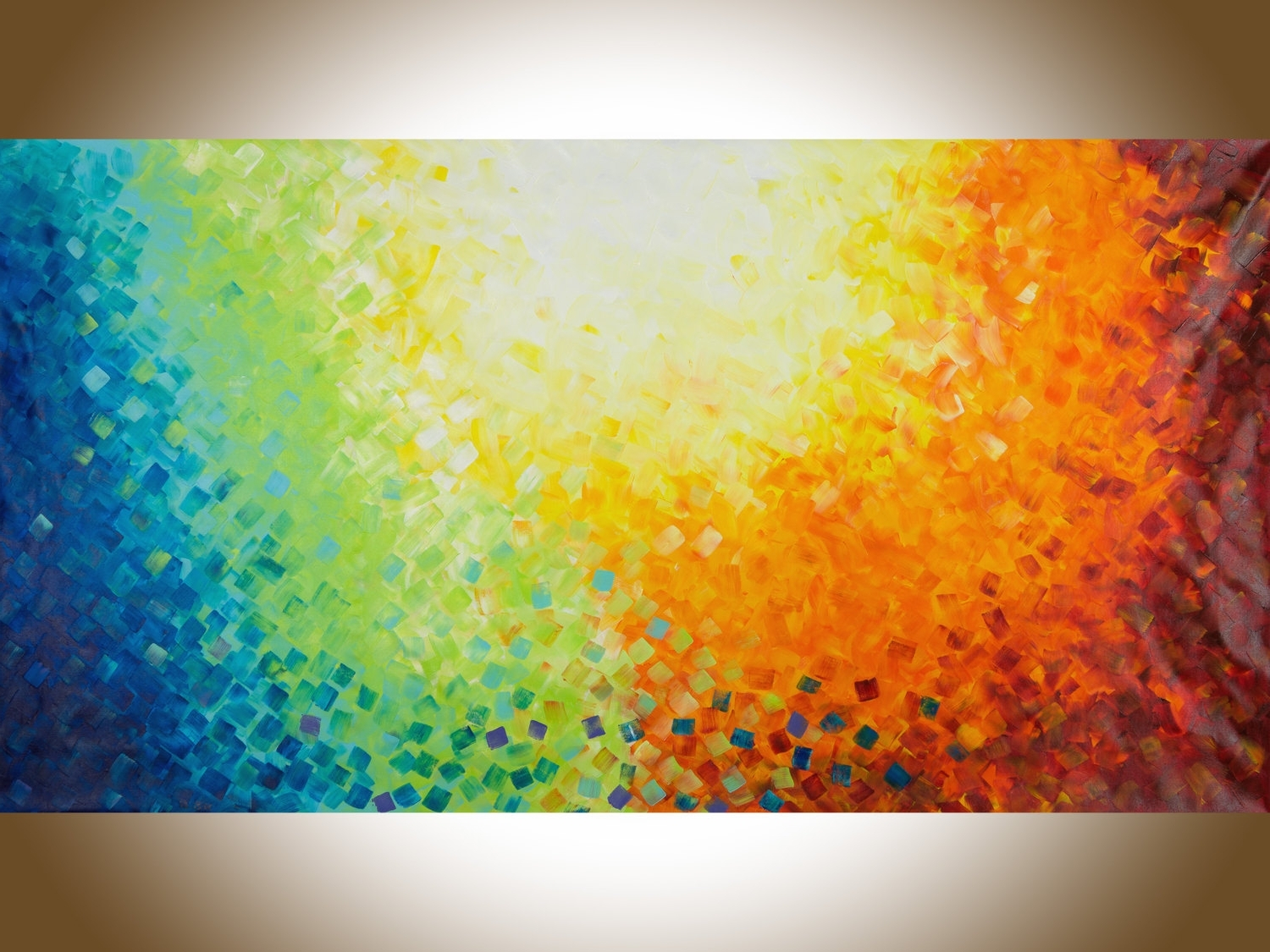 "Colourful Abstract Wall Art Inside Most Current Wall Art 60""colourful Abstract Art Red Yellow Orange Blue Green (View 4 of 15)"