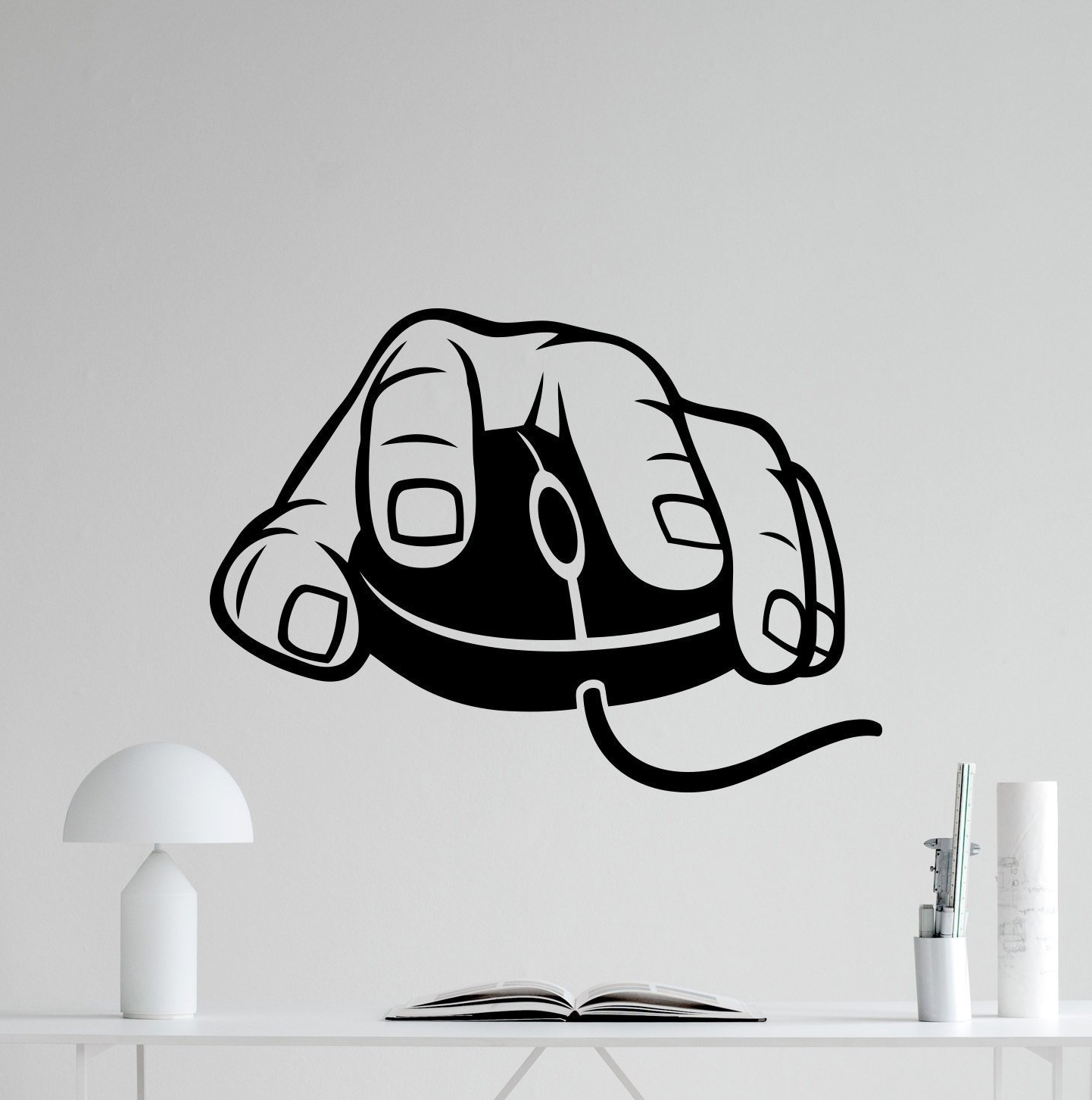 Computer Mouse Wall Decal Gaming Gamer Video Game Vinyl Sticker Intended For Recent Computer Wall Art (View 3 of 15)