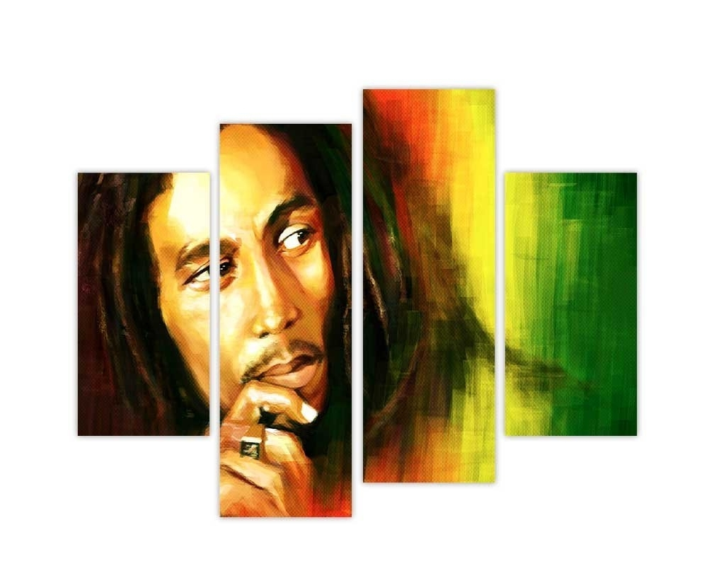 Contemporary Bob Marley Canvas Wall Art Prints Iconic Photo Home For Best And Newest Bob Marley Canvas Wall Art (View 6 of 15)