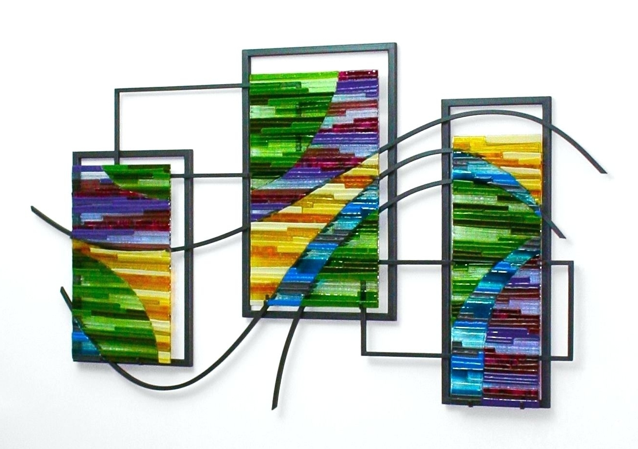 Contemporary Fused Glass Wall Art For Preferred Wall Arts ~ Hanging Willow Metal Wall Art Wall Hanging Metal Art (View 8 of 15)