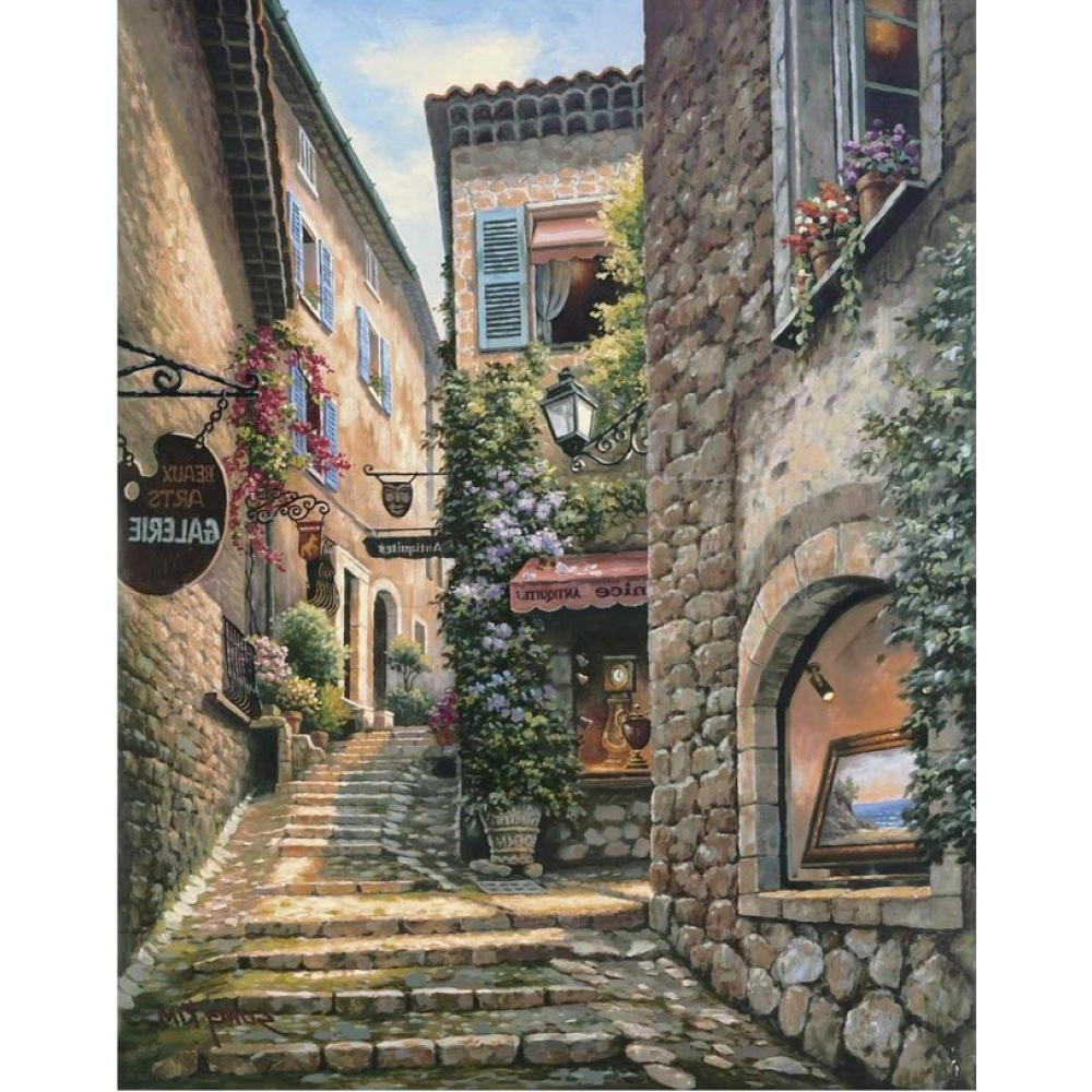 Contemporary Italian Wall Art Intended For Well Liked Hand Painted Contemporary Art Italian Village Landscapes Oil (View 12 of 15)