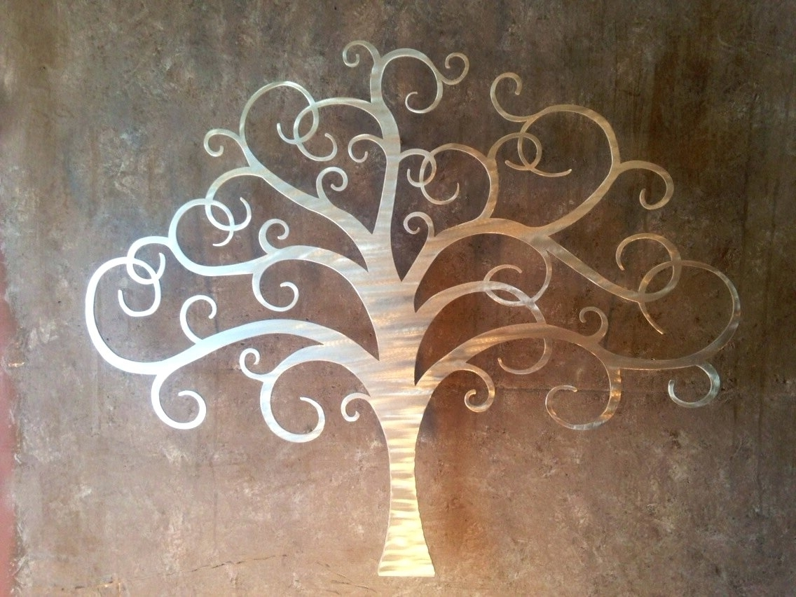 Copper Oak Tree Wall Art With Well Liked Wall Arts ~ Copper Wall Clock Modern Metal Wall Art Large Wall (View 6 of 15)