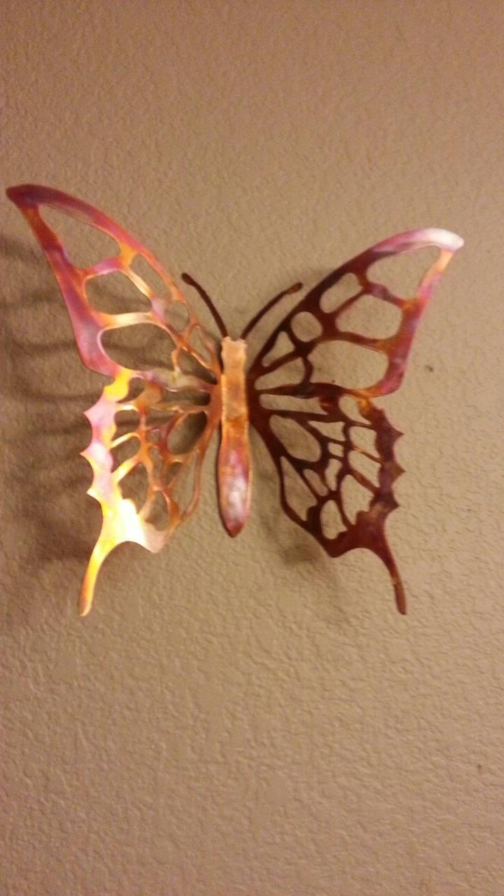 Copper Wall Art Home Decor Regarding Current Metal Butterfly – Copper Butterfly – Wall Decor – Butterfly – Home (View 4 of 15)