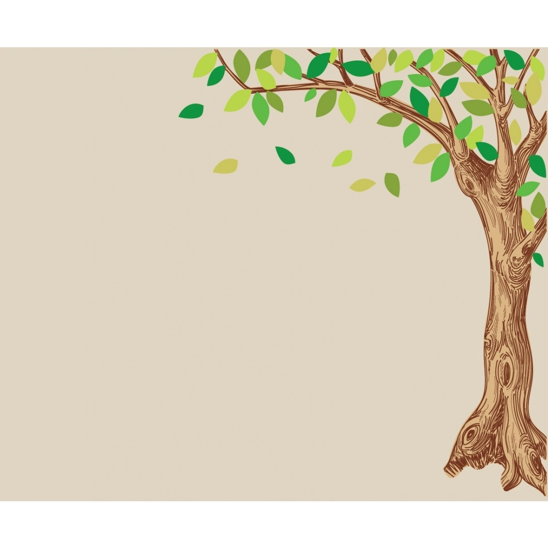 Corner Oak Large Tree Decal For Children Intended For Most Recent Oak Tree Wall Art (View 1 of 15)