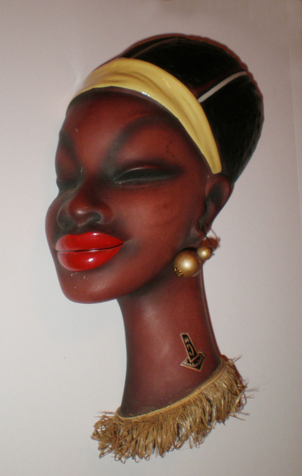 Cortendorf African Lady Head Mask Wall Art Deco Vintage 1950s, Nr Throughout Well Liked Mannequin Wall Art (View 10 of 15)