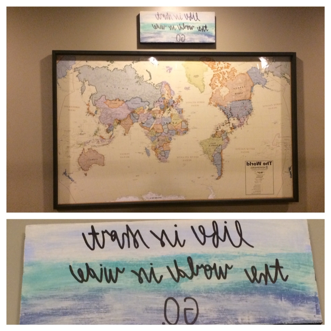 Costco Wall Art Intended For Most Up To Date World Map – Travel Wall (View 4 of 15)