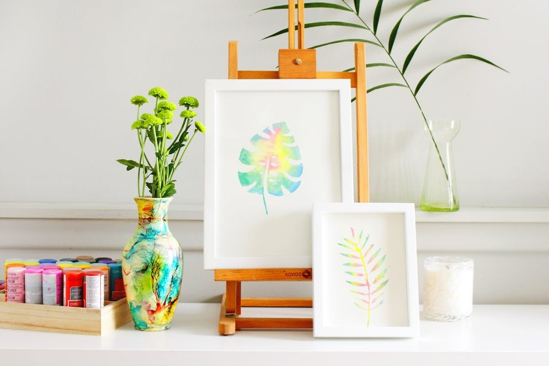Create This Anthropologie Watercolor Wall Art For Half The Price For 2018 Diy Watercolor Wall Art (View 2 of 15)