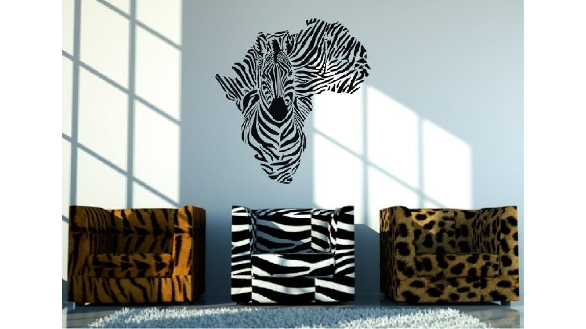 Creative Design Zebra Wall Art Canvas Stickers Australia Nz Decals Inside Widely Used Zebra Wall Art Canvas (View 3 of 15)