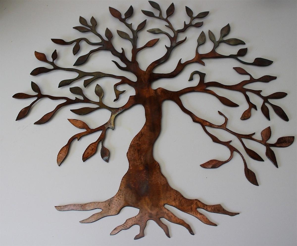 Creative Ideas Regarding 2017 Metal Tree Wall Art Sculpture (View 4 of 15)
