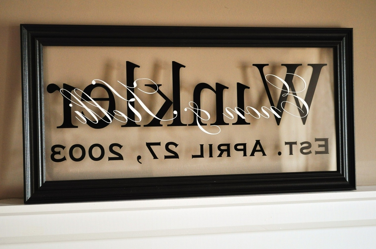 Creative Ideas Throughout Last Name Wall Art (View 5 of 15)