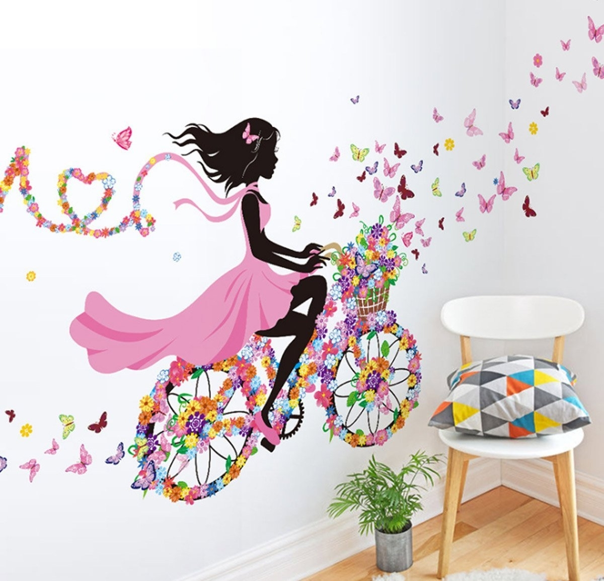 Current 3D Removable Butterfly Wall Art Stickers Intended For Amazon: Mzy Llc (Tm) Owl Zebra Lion Tree Wall Stickers Home (View 5 of 15)