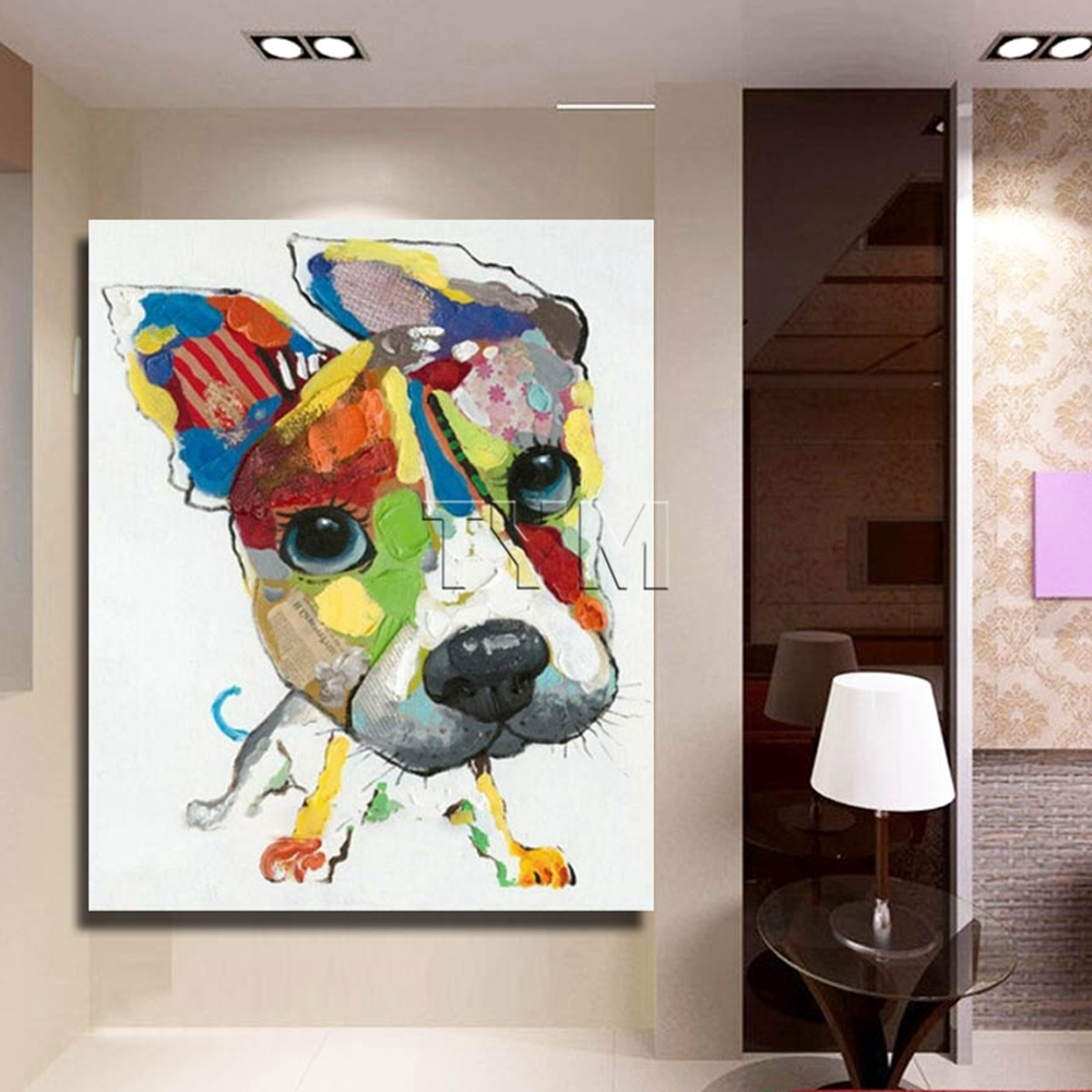 Current Abstract Dog Wall Art Regarding Wall Art Canvas Abstract Dog Painting Home Decor Living Room Decor (View 8 of 15)