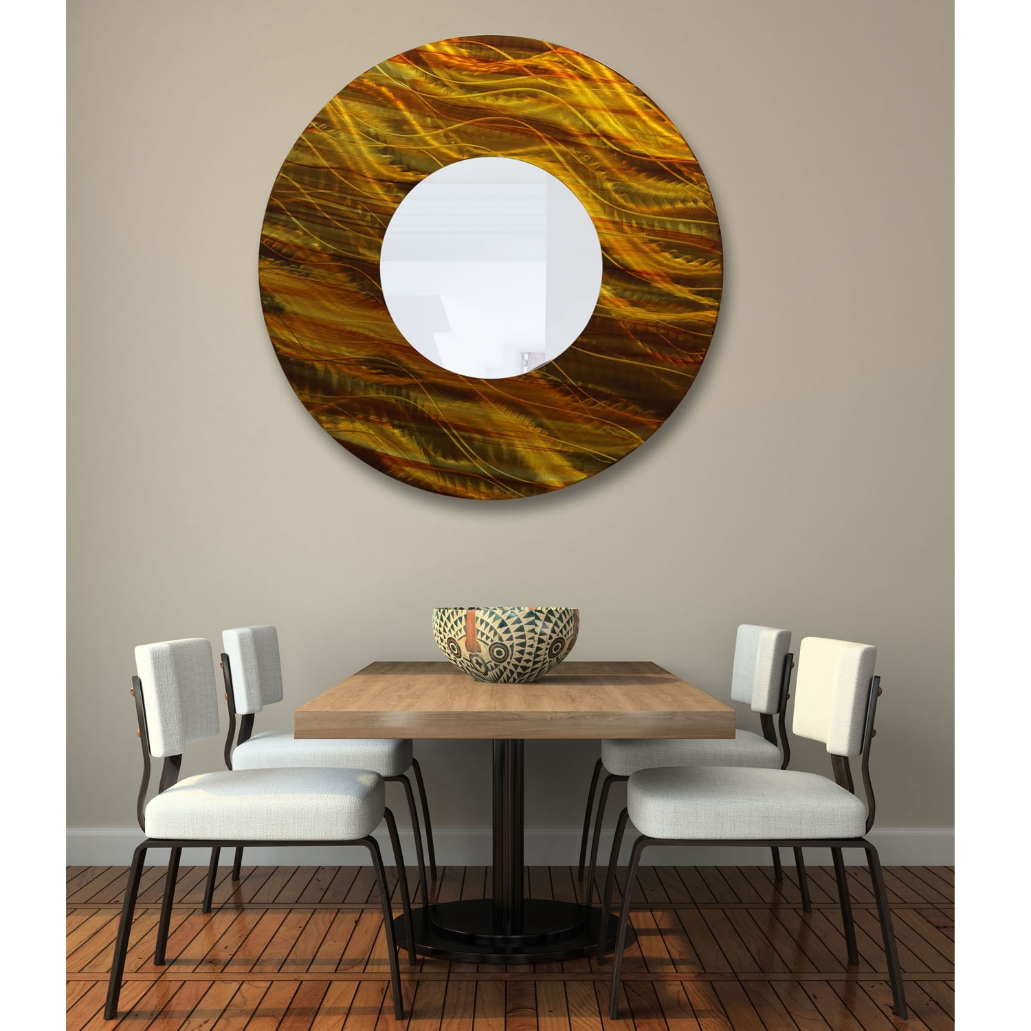 Current Abstract Mirror Wall Art Regarding Mirror 115 – Gold And Amber Abstract Metal Wall Art Mirror Accent (View 5 of 15)
