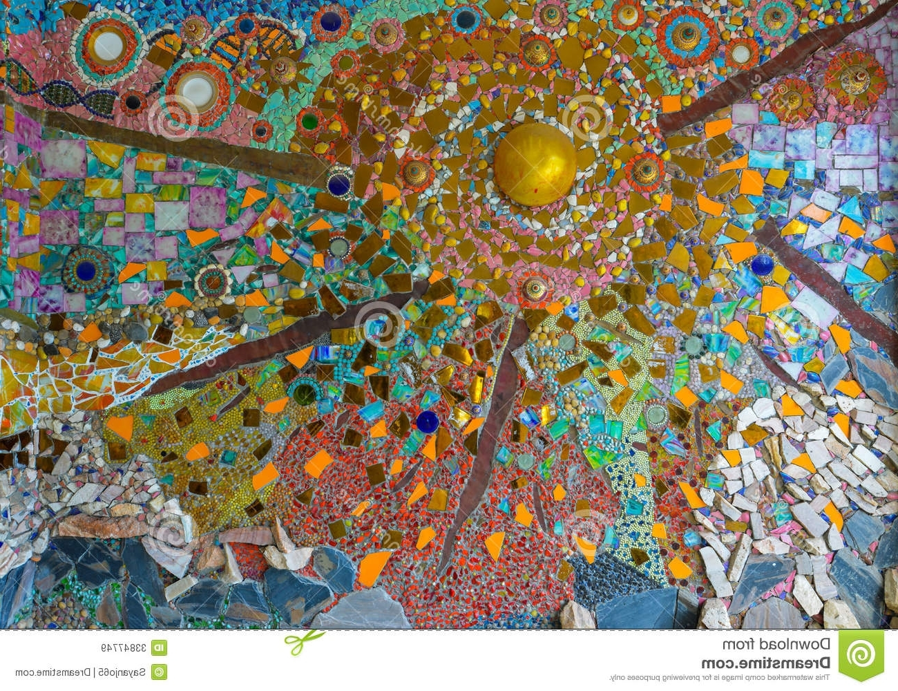 Current Abstract Mosaic Art On Wall For Colorful Glass Mosaic Art,abstract Wall Background. Stock Image (Gallery 1 of 15)