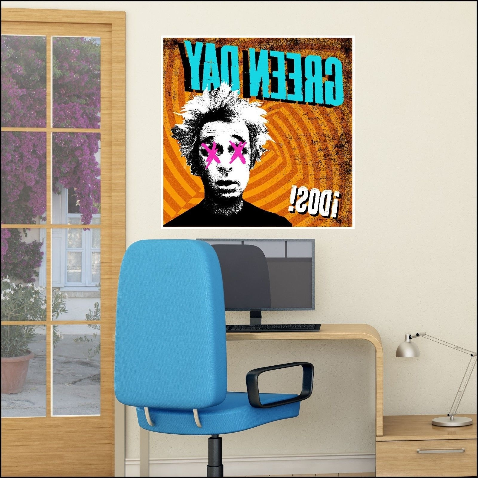 Current Album Cover Wall Art Inside Large Green Day Idos! Music Album Cover Wall Art Sticker 6 Size Xl (View 8 of 15)