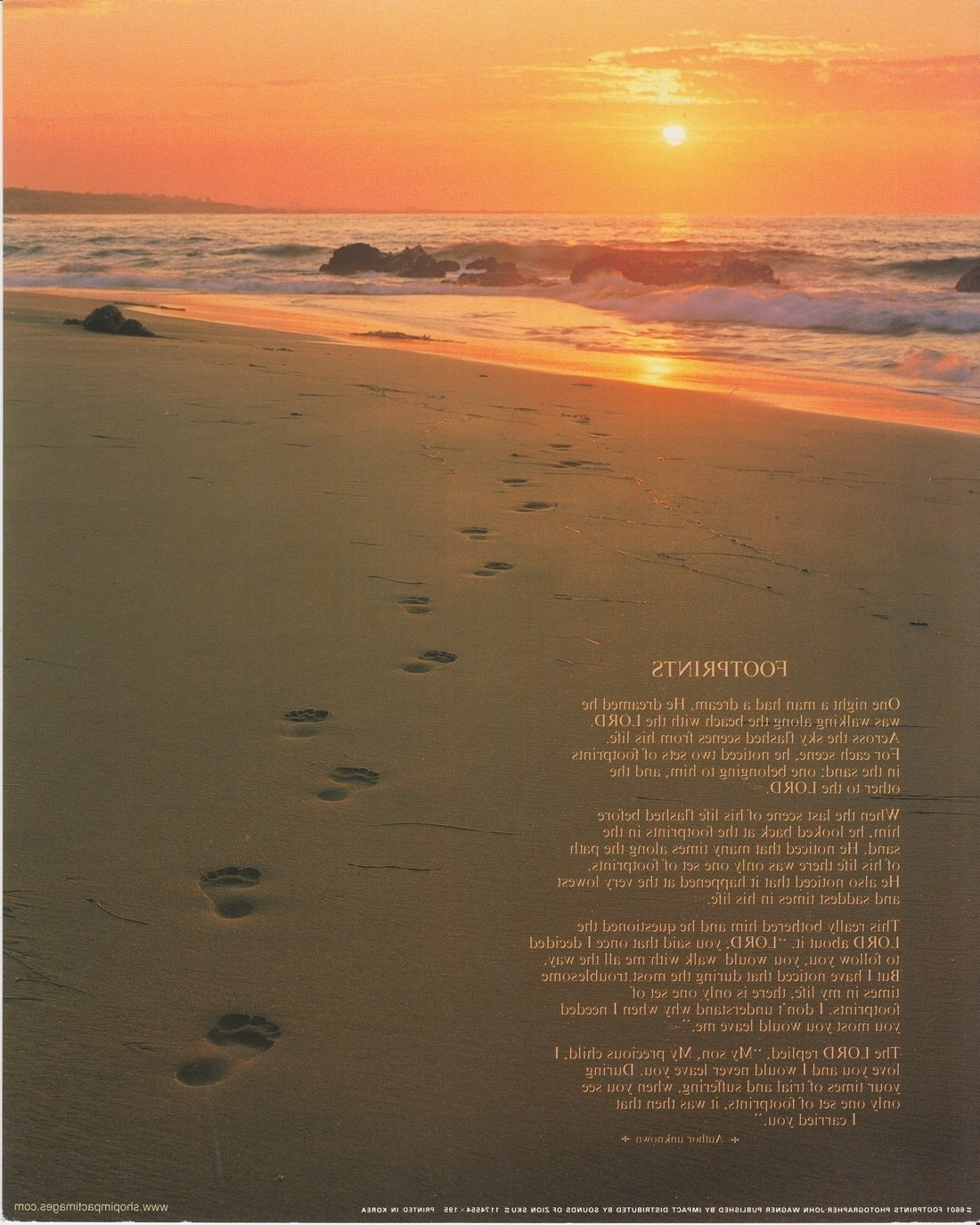 Current Amazon: Footprints Poster In The Sand Motivational Wall Decor With Footprints In The Sand Wall Art (View 5 of 15)