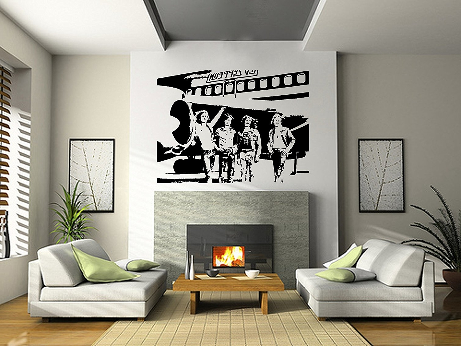 Current Amazon: Led Zeppelin Wall Art Sticker Rock Music Decal Band For Led Zeppelin Wall Art (View 3 of 15)
